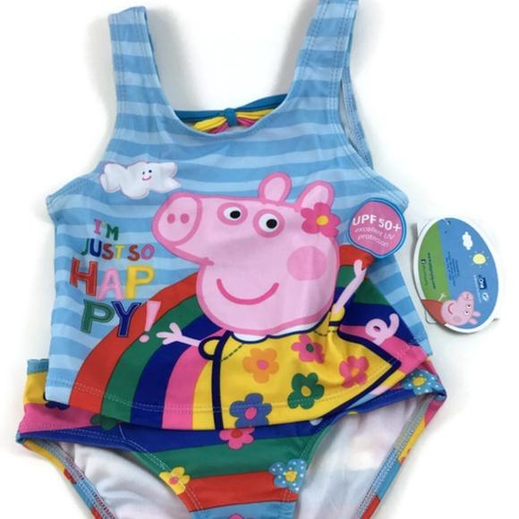 98955391a5 Peppa Pig Tankini 2Pc Swimsuit Sz 2T NEW